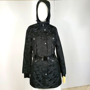 Michael Kors MK Black Camo Winter Coat Jacket Size S